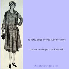 Patou coat and dress, Delineator sketch, Nov. 1929.