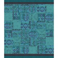 "This area rug features <a href=""<product_id>623</product_id>"">Remembrance</a> in Teal and <a href=""<product_id>629</product_id>"">Made You Look</a> in Turquoise and Black. To assemble your rug, just use the FLORdots in the box with your squares."