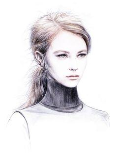 fashion illustrations by Anca G. Lungu.