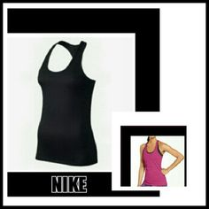 BLACK NIKE DRI FIT RACER BACK TOP BLACK NIKE TRAINING DRI FIT RACER BACK TOP * Fabric helps keep you dry and comfortable * Scoop neck and wide armholes for a comfortable fit * Racer Back for natural range of motion * Flat seams move smoothly against skin * Made of Cotton/Polyester/Spandex Size M Like new Nike Tops Muscle Tees