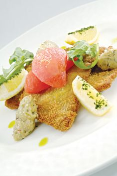 """American Lamb Cutlets Milanese Style with Eggplant """"Caviar"""" - Superior Farms"""