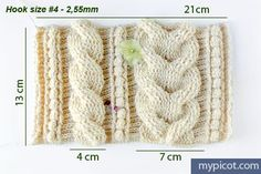 MyPicot | Free crochet patterns. Crochet cable pattern: Diagram and step by step instructions.