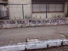 muro que resume minha vida