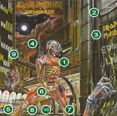 Iron Maiden's 1986 album cover explained in detail
