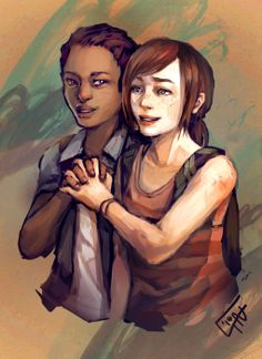 Ellie and Riley from c-dra.tumblr.com. I think this is my favorite Left Behind fanart. <3