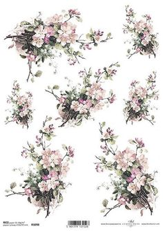 Italy Rice paper for Decoupage Decoupage Glue, Decoupage Tissue Paper, Tissue Paper Crafts, Decoupage Ideas, Decoupage Printables, Printable Paper, Paper Background, Vintage Flowers, Painting Frames