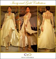 7909207ddae Another gorgeous piece from the Priya Chhabria Ivory and Gold Collection -  an Ivory white dress