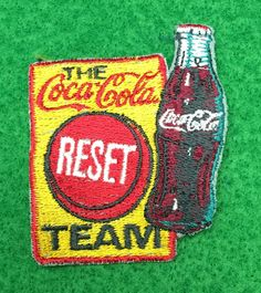 The Coca-Cola Reset Team Embroidered Patch by CoryCranksOutHats on Etsy