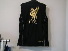 Personalised sleeveless fleece jacket.