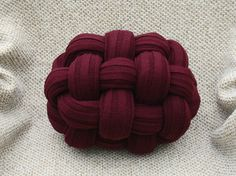 Knot pillow chunky pillow knot cushion throw pillow by OlgaArtShop
