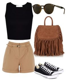 """Safari outfit"" by anahnava on Polyvore featuring moda, Oasis, Converse, Superdry, Ray-Ban, fashionista, converse, rayban y short"