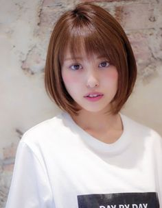 Pin on ボブ Haircuts Straight Hair, Short Bob Hairstyles, Hairstyles Haircuts, Summer Hairstyles, Short Hair Cuts, Hair Streaks, Hair Highlights, Medium Hair Styles, Curly Hair Styles