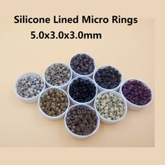 5000pcs  5.0mm Aluminium Micro ring  Silicone lined  Links Beads tube for Feather Human Hair Extension tools accessories
