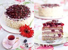 Ванильный торт с вишней