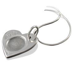 fingerprint necklace single
