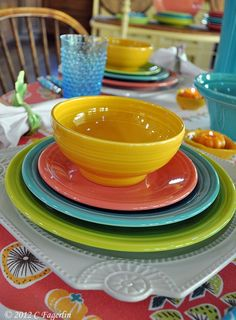 Lovely colors. I think this is lemongrass, turquoise, flamingo and sunflower. .