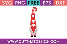 Cut That Design provides a large selection of Free SVG Files for Silhouette, Cricut and other cutting machines. Available in SVG, DXF, EPS and PNG Formats. Valentine Crafts, Valentines, Cricut Tutorials, Cricut Ideas, Scandinavian Gnomes, Free Christmas Printables, Cricut Creations, Valentine's Day Diy, Vinyl Projects