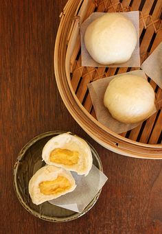 Love these Chinese egg custard buns.