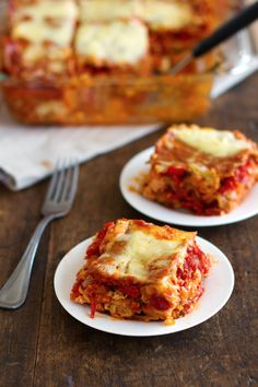 Whole Wheat Roasted Veggie Lasagna (1) From: Pinch Of Yum, please visit