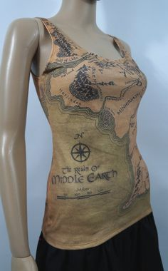 Middle Earth Tank Top Lord of the Rings by NerdAlertCreations