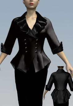 1940s Jacket by Amber Middaugh-- This won and will be made into a prototype and auctioned off on Chicstar.com
