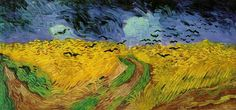 Van Goh's Last Painting Before He Committed Suicide - Crows Over a Wheatfield