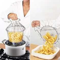 In the Pot Colander - Foldable Strainer for Easy Draining – Go Go Kitchen Gadget