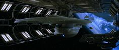 The Excelsior-class starship USS Enterprise-B