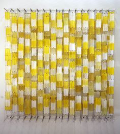 Jacob Hashimoto, field of yellow blocks.