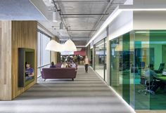 San Francisco-based design firm Studio O+A completed their work for Cisco-Meraki's new office. The square foot space was envisioned as appearing as simple and easy to use as the wireless routers made by the newly merged Cisco-Meraki. Commercial Interior Design, Office Interior Design, Commercial Interiors, Workplace Design, Corporate Design, Healthcare Design, Retail Design, Corporate Interiors, Office Interiors