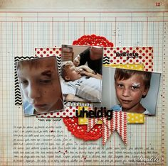 A Layout about my son and an accident he had at school Layouts, Scrapbook, School, Schools, Scrapbooks, Scrapbooking, Guest Books