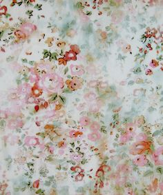 This digital print was created from photographs of roses blurred with classic Liberty florals, inspired by wonderful textiles at Glencot House in Somerset.