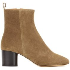 Isabel Marant Deyissa Suede Ankle Boots (735 AUD) ❤ liked on Polyvore featuring shoes, boots, ankle booties, suede booties, ankle bootie boots, ankle boots, suede leather boots and suede bootie