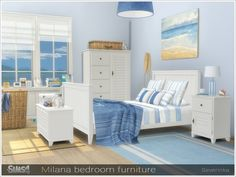 Sims 4 Updates: TSR - Furniture, Bedroom : Milana bedroom by Severinka, Custom Content Download!