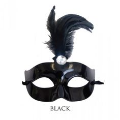 Mask Centerpieces - Feather Mask Centerpiece - Black