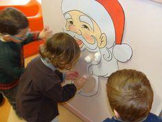 La barbe blanche du Père Noël.