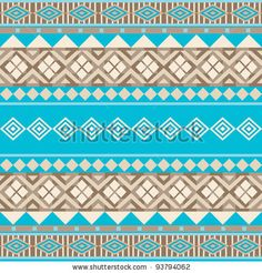 Geometrical ethnic ornamental seamless african style background - stock vector
