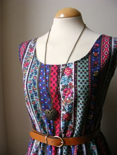 Jennifer Lilly Handmade Beautiful Gypsy Boho Summer Dress, $35.00
