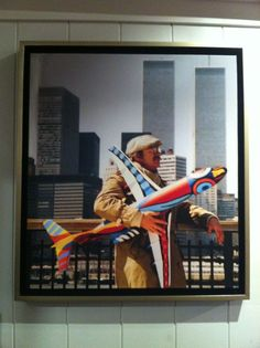 Karel Appel in front of Twin Towers, NYC, 1982 // Nico Kosters