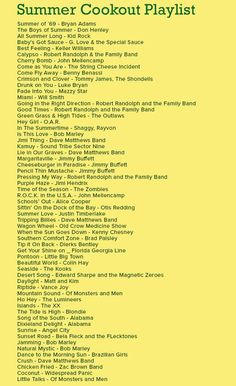 Find music for your next party! For instance, this Summer Cookout Playlist is a great choice for your Memorial Day Cookout!