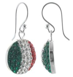 Half ball Earring with crystals Italy Italia World Cup