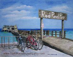 Anna Maria Island Print Beach Painting Beach by BarbaraRosenzweig