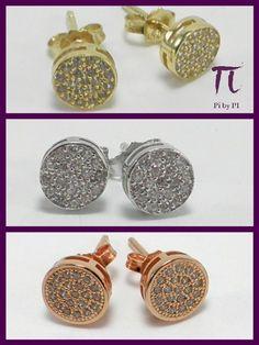 Zirconitas y plata chapada en oro.// Zircon and  sterling silver. Disponible en plata rosa, blanca y amarilla.  // Available in pink, yelow and white silver.