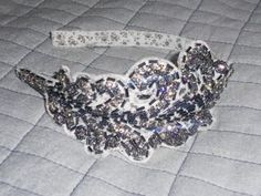 Alannah Hill sequin headband for wedding at Mt Cotton Qld