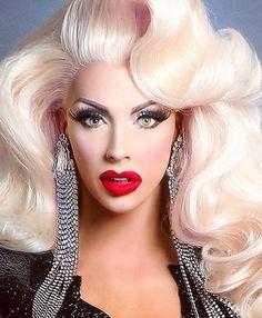 Drag Queen Makeup, Drag Makeup, Drag Queens, Rupaul Drag Queen, Alyssa Edwards, Big Hair, Amazing Women, Wigs, Glamour