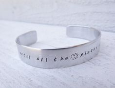 AUTISM awareness silver aluminum cuff bracelet made to by Amayeli, $20.00