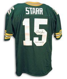 "AAA Sports Memorabilia LLC - Autographed Bart Starr Packers Green Throwback Jersey w/ Inscription ""SB I, II MVP"", $469.95 (http://www.aaasportsmemorabilia.com/nfl/autographed-jerseys/autographed-bart-starr-packers-green-throwback-jersey-w-inscription-sb-i-ii-mvp/)"