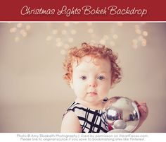 Instructions on how to make your own Christmas Lights Backdrop and camera settings to use!  via iHeartFaces.com #photography