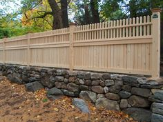 CNC: Fairfield with Cape Cod Topper. I didn't like the picket fence before but now I think this style will look best with our home, and the low stone wall