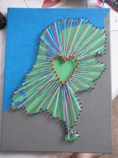 My String Art Of The Netherlands, took me a week to paint, hammer and string everything! I must make more of these!